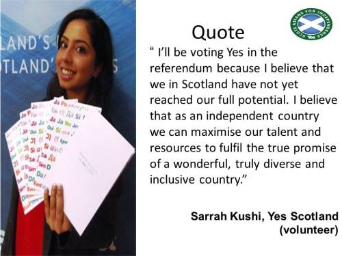 Scots Asian, Sarrah Kushi on why she'll be voting YES