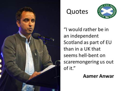 Why Aamer Anwar would rather be in an independent Scotland