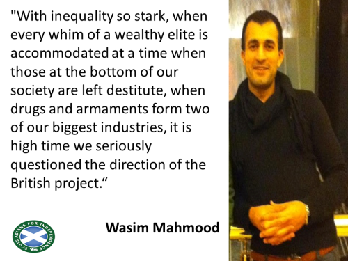 '...When those at the bottom are left destitute...' Wasim Mahmood