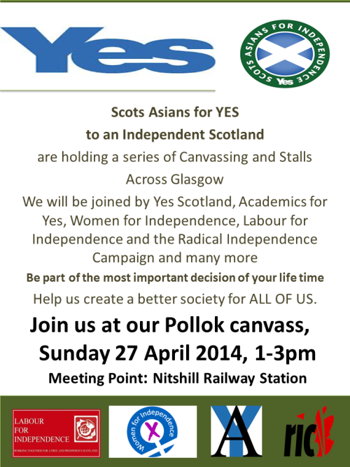 SAFY Canvassing in Pollok 27 April