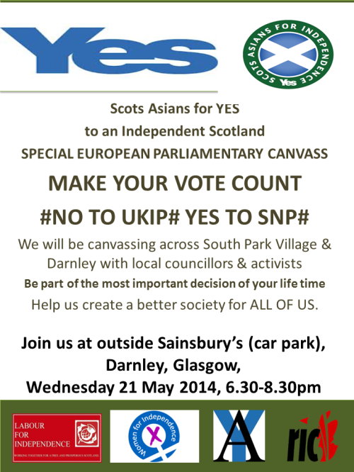 European Parliament Canvass 21 May Darnley #SPECIAL#