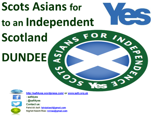 Scots Asians for Yes DUNDEE!