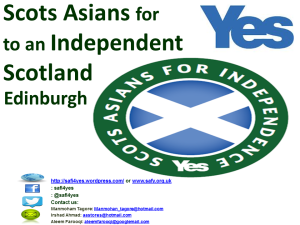 Scots Asians for Yes Edinburghlandscape