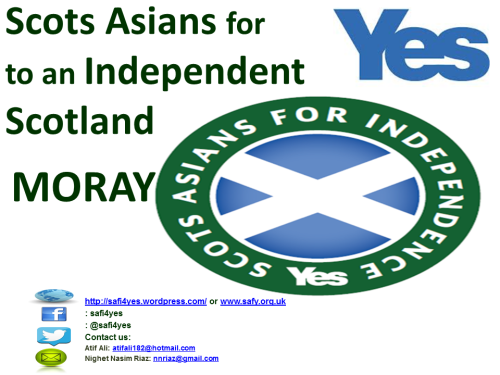 A big welcome to Scots Asians for YES MORAY