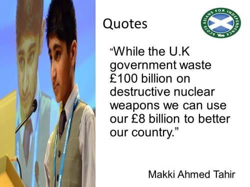 Why Makki Tahir is saying YES to independence