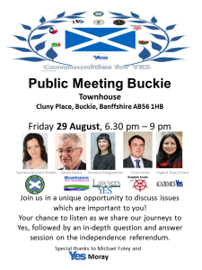 Public Meeting Buckie